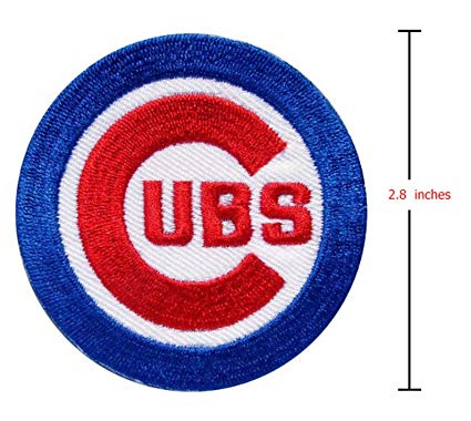 Chicago UBS Cubs Baseball Team Logo Iron on Sew on Embroidered Patch Badge.