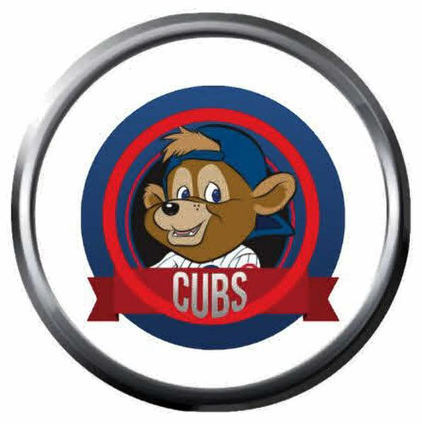 Wrigley Field Bear MLB Baseball Chicago Cubs Logo 18MM.