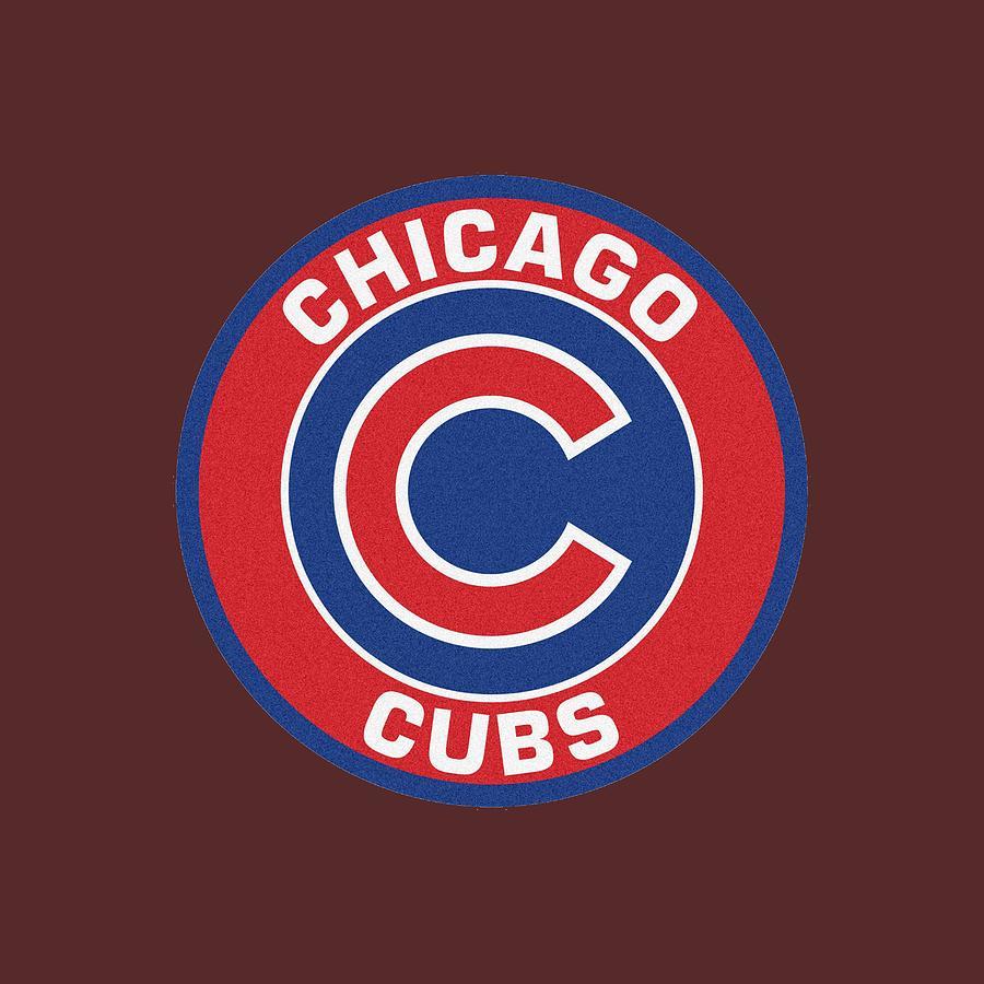 Sticker Chicago Cubs Baseball Logo.