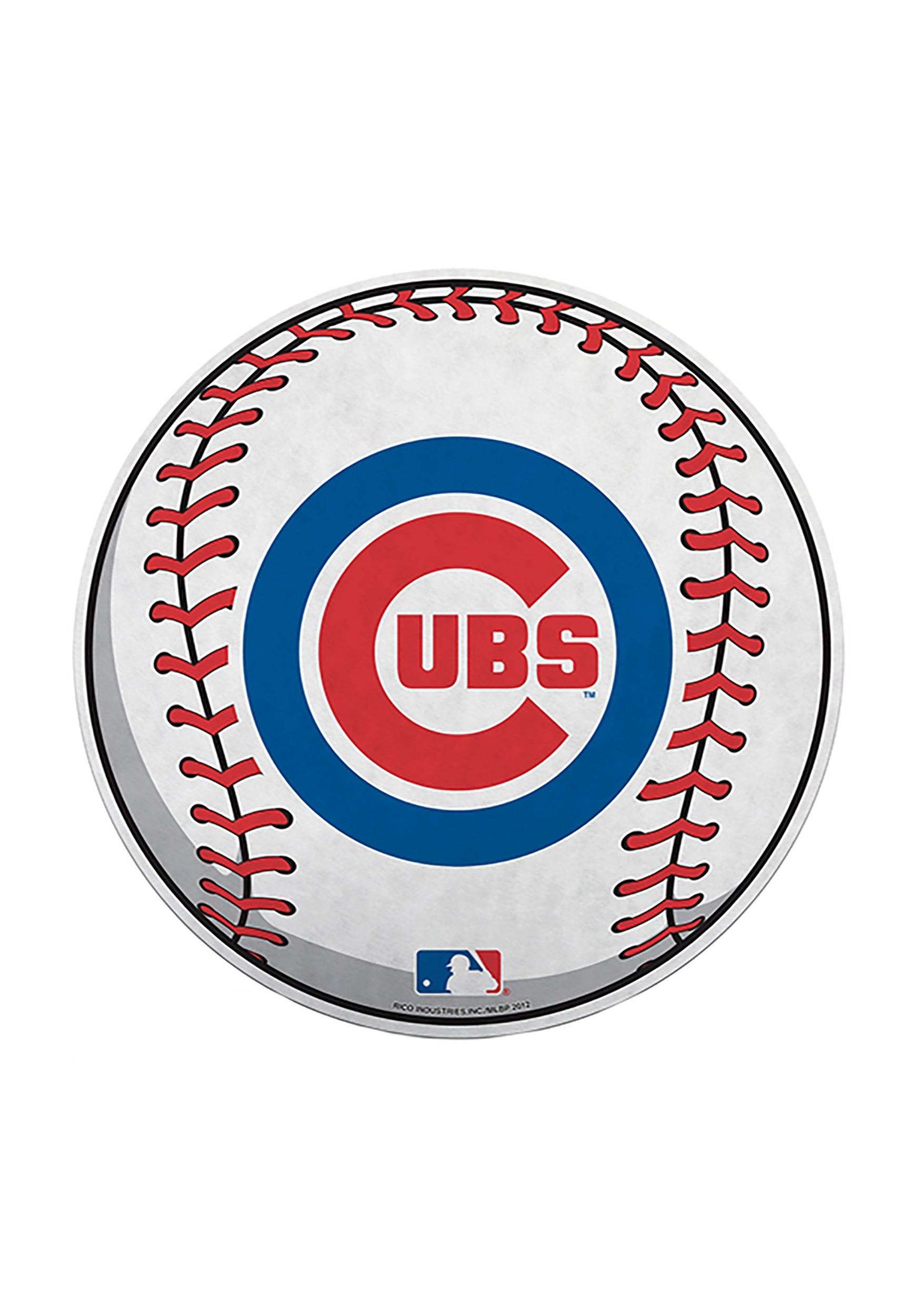 Chicago Cubs MLB Die Cut Baseball Pennant.