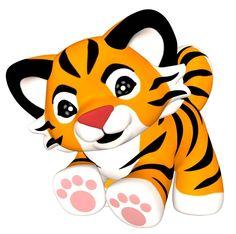 Tiger cubs clipart.