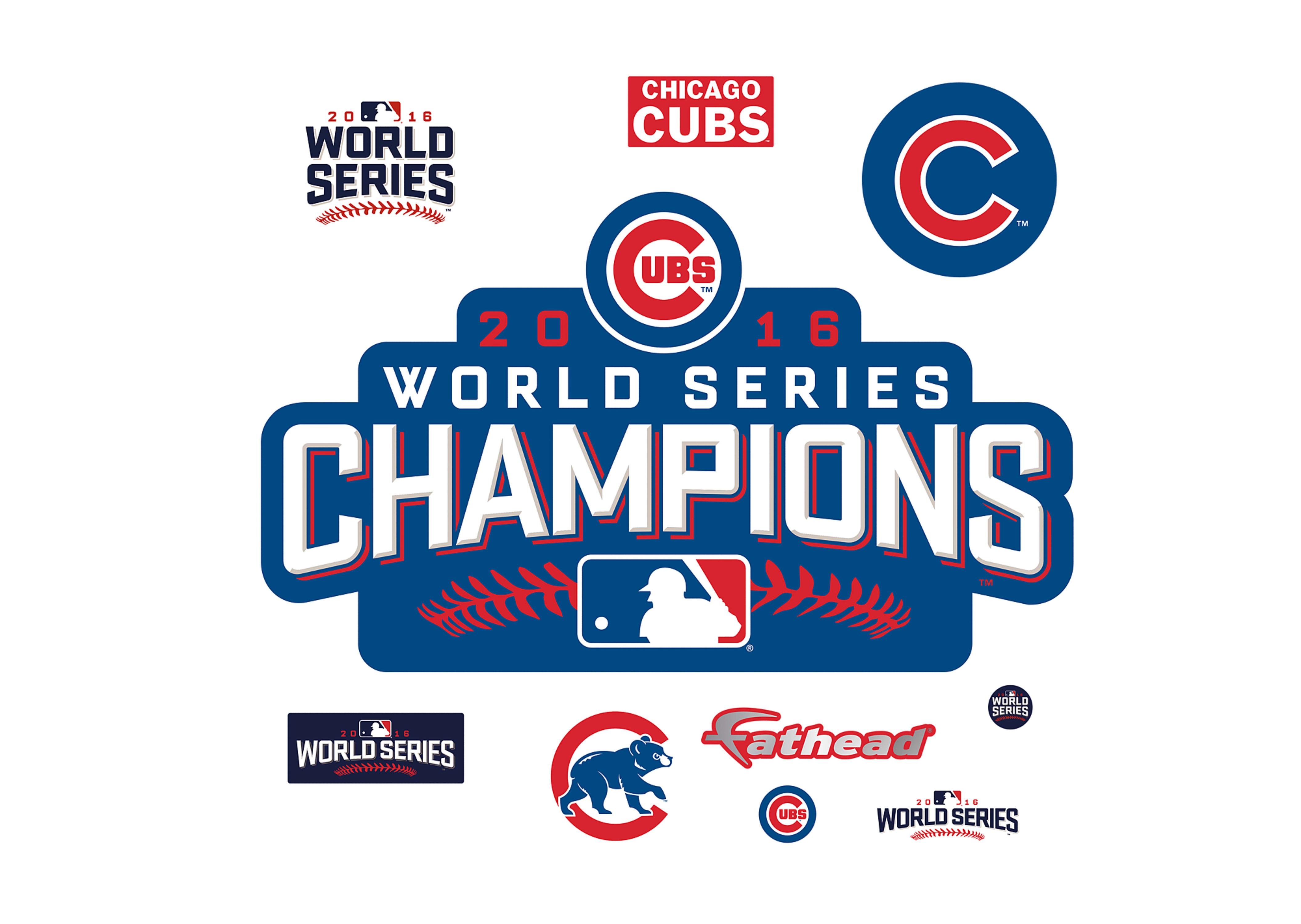 Chicago cubs world series Logos.