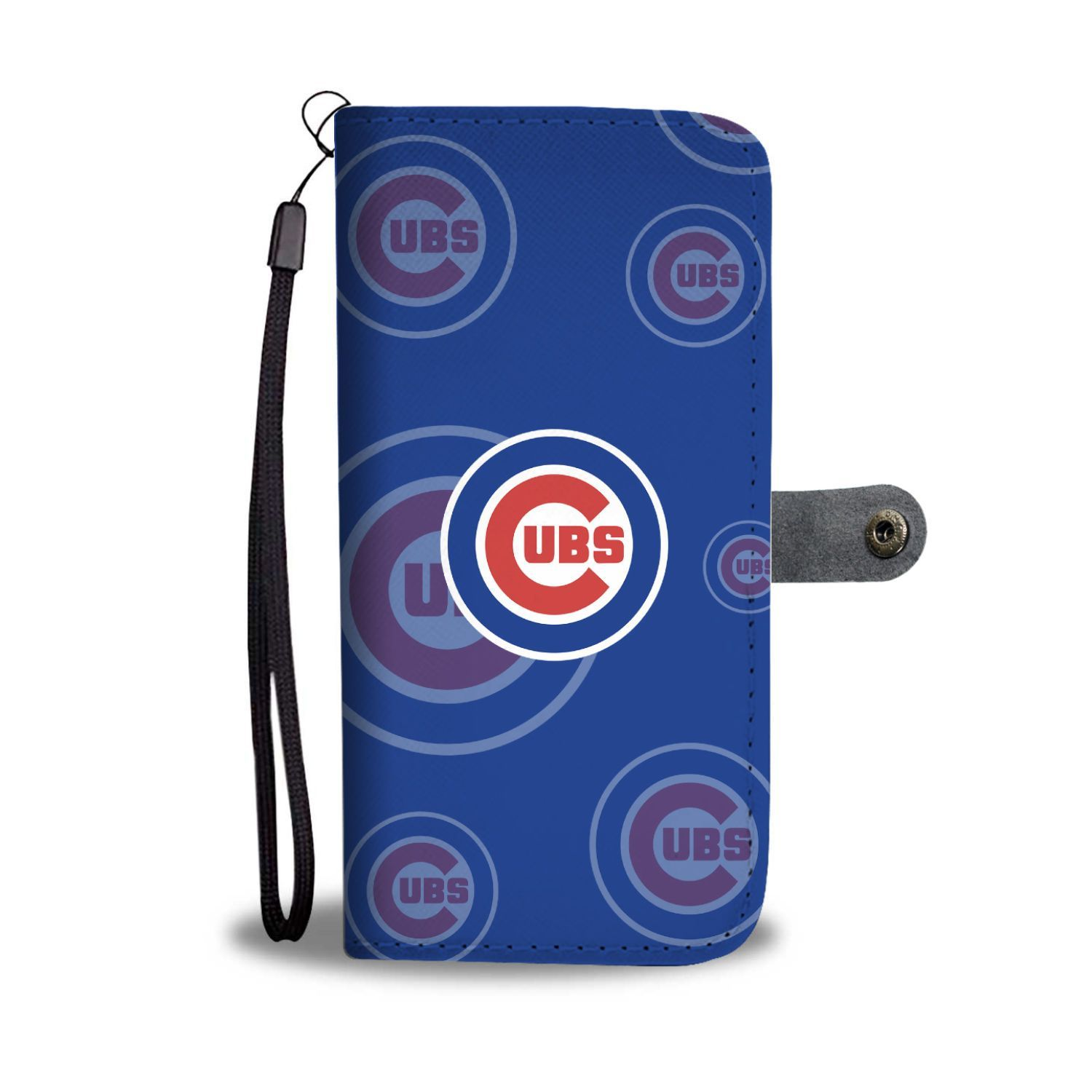 Chicago Cubs Logo Background Wallet Phone Cases.