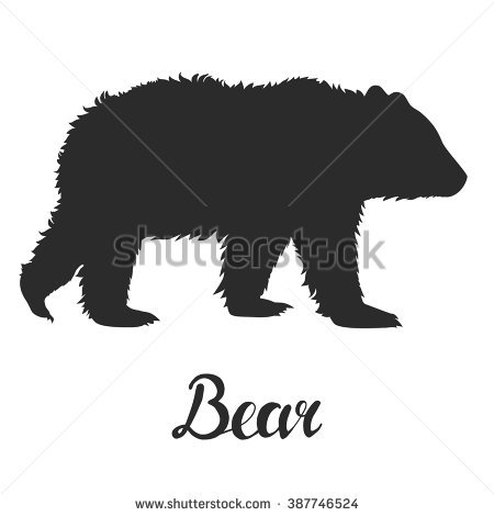 Bear Silhouette Stock Images, Royalty.