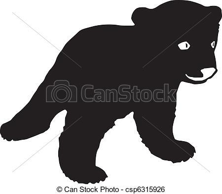 Clip Art Vector of bear cub csp6315926.