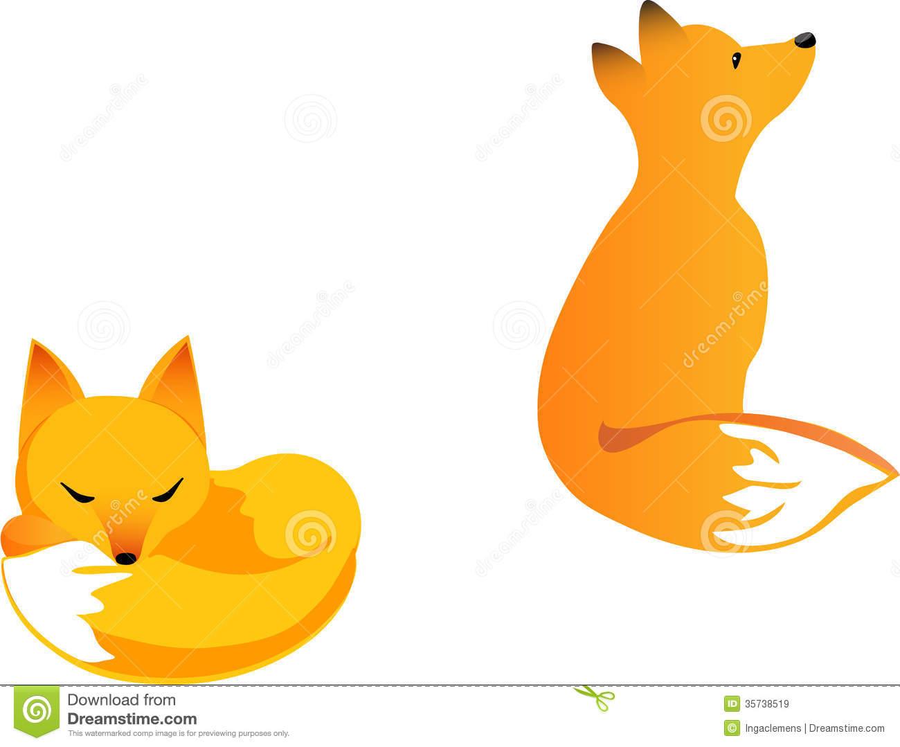 Baby Fox Clip Art Fox cubs.