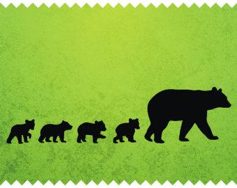 Bear silhouette.
