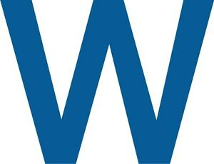 Details about W Fly the W Chicago Cubs WORLD SERIES 2016 car decal great  bumper sticker.