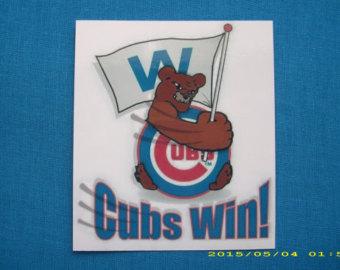 cubs win clipart