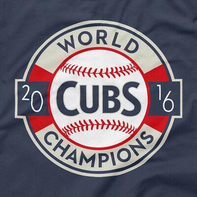 Chicago Cubs Shirt 2016 World Series Champions Logo Blue M L XL 2XL 3XL 4XL  5XL.