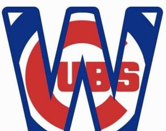 Chicago cubs decal.