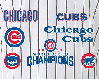 Chicago cubs world series svg.