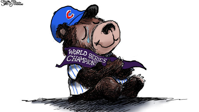 Holy cow! The Cubs are World Series champs!.
