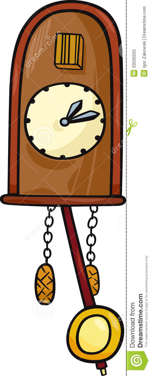 Cuckoo Clock Clip Art Cartoon Illustration Stock Photos.