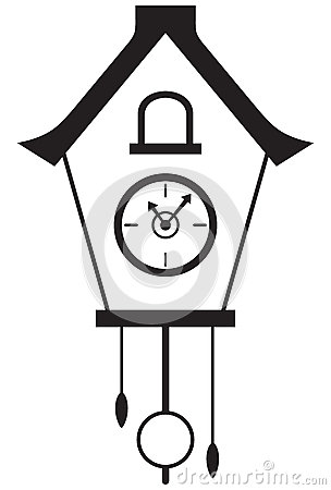 Cuckoo Clock Icon Stock Illustrations.