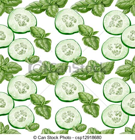 Vector of Seamless background from cucumber.