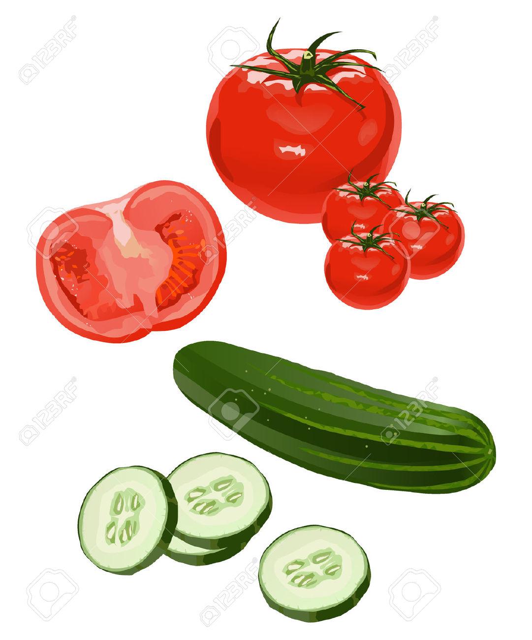 Cucumber salad clipart.