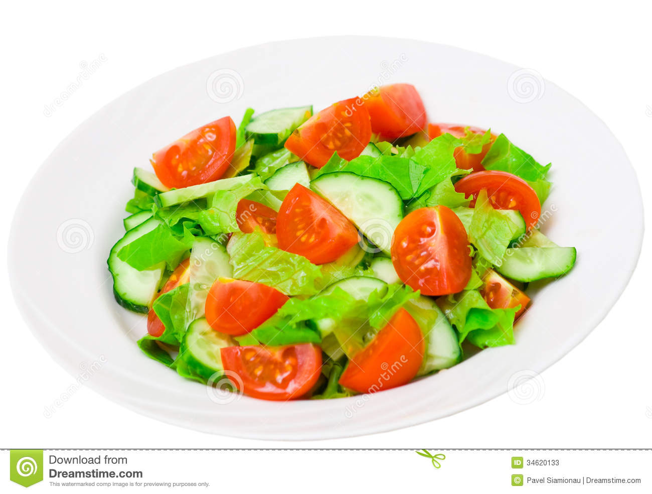 Salad In The Bolw Clipart.