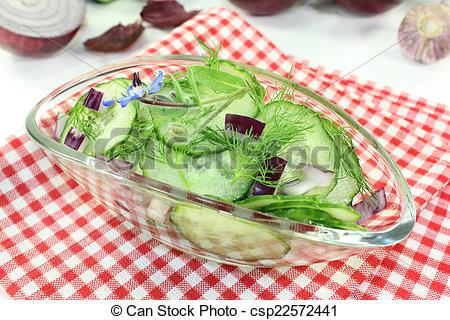 Stock Photo of Cucumber salad.