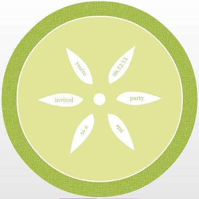 Cucumber slice clipart.