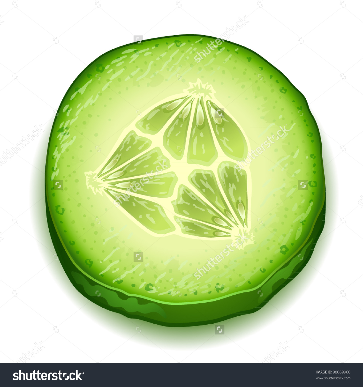 Cucumber slices clipart - Clipground