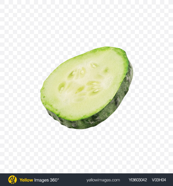 Download Cucumber Slice Transparent PNG on Yellow Images 360°.