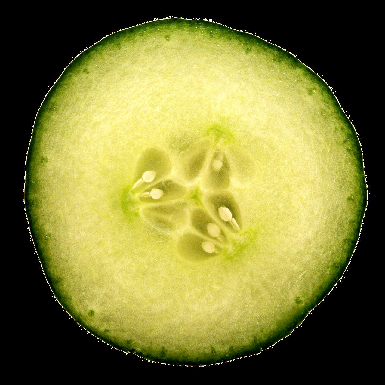 Cucumber Slice Hydrate Skin Eye PNG.