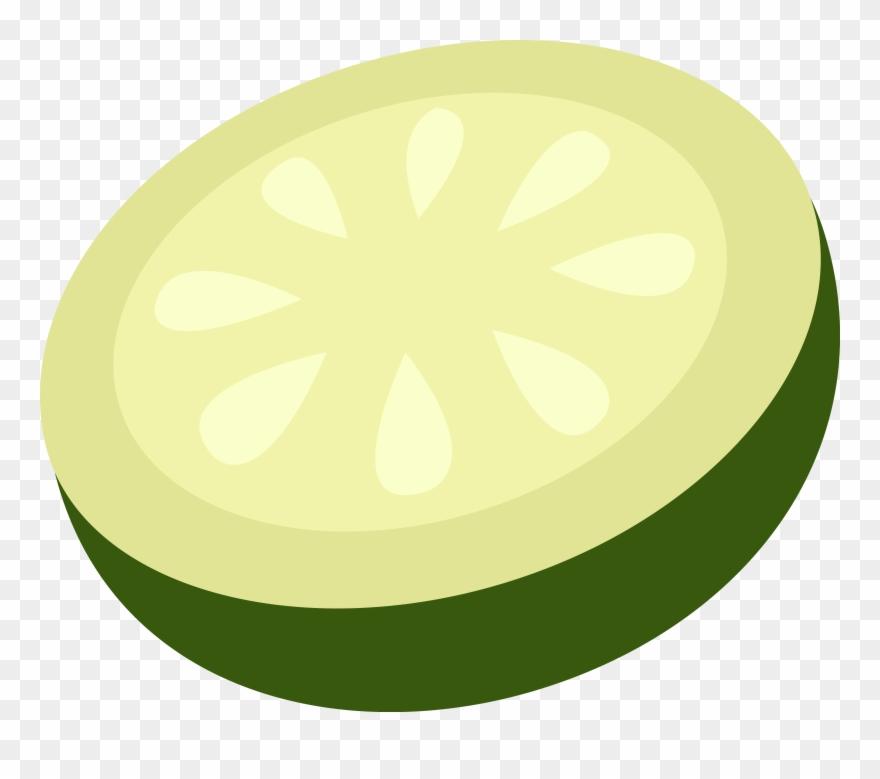 Cucumber Slice Vector Art Free Clip Clipart.