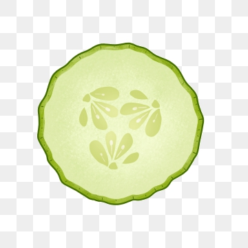 Cucumber Slices PNG Images.