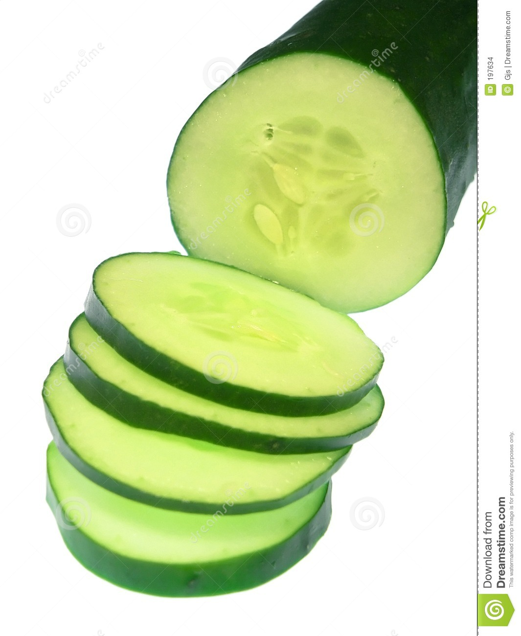 Green cucumbers clipart.