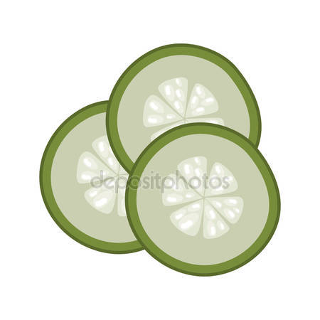 Cucumber slice Stock Vectors, Royalty Free Cucumber slice.