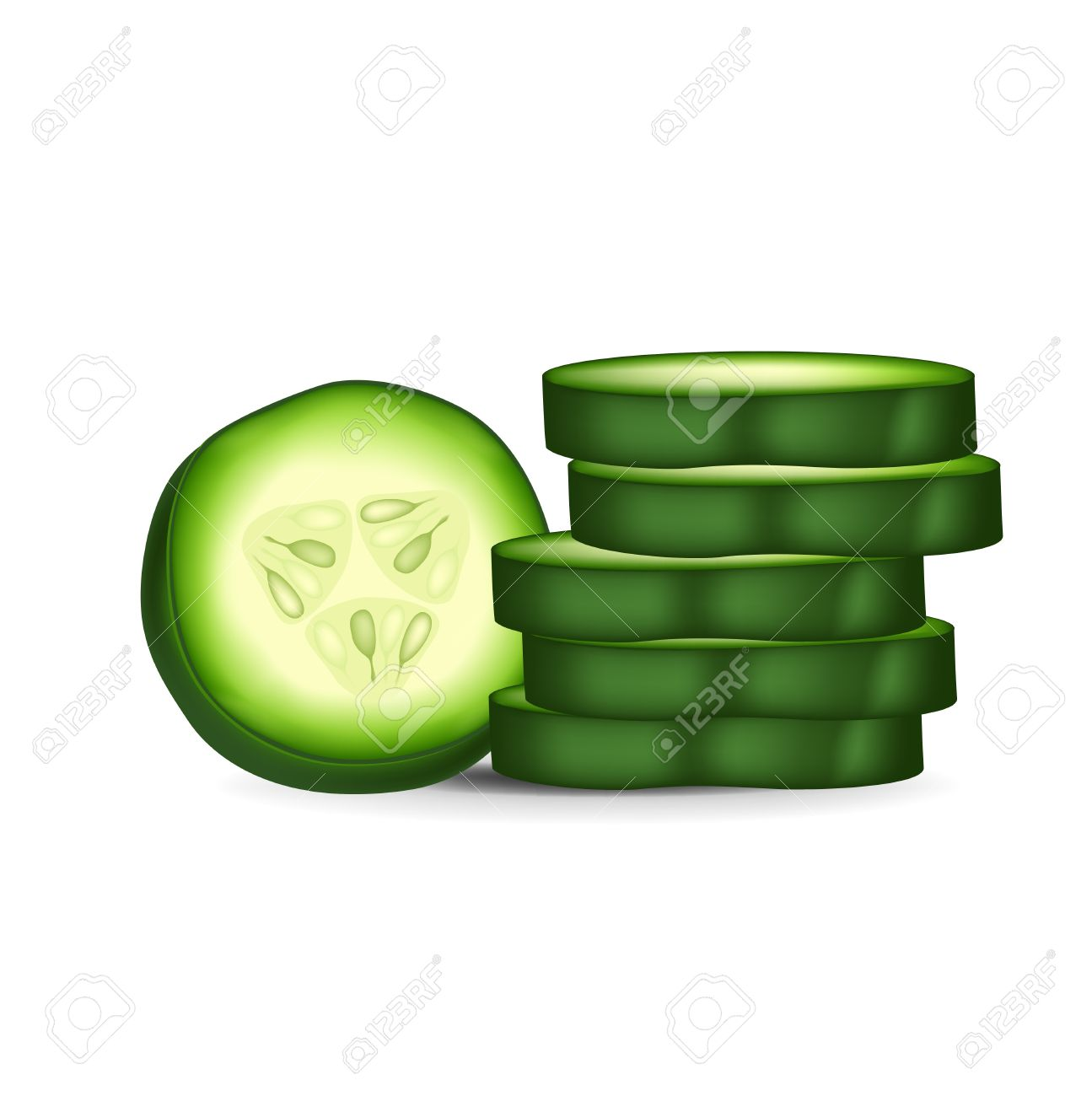 Cucumber slices clipart 20 free