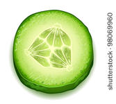 Cucumber Slices Clipart.