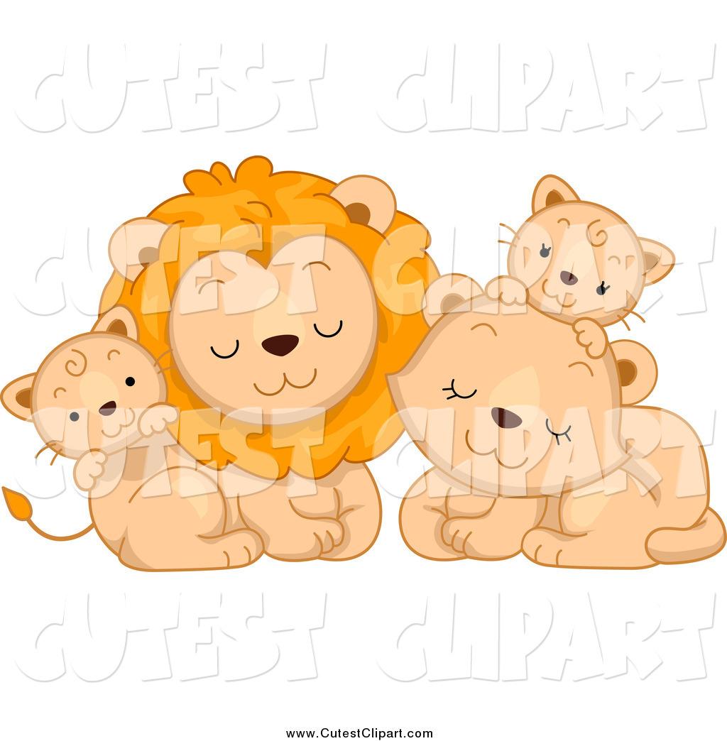 Cuddling Family Clipart.