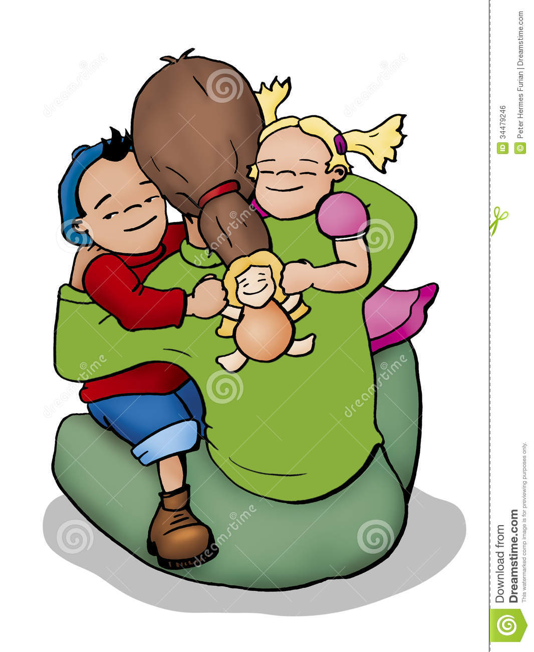 People cuddling clipart.