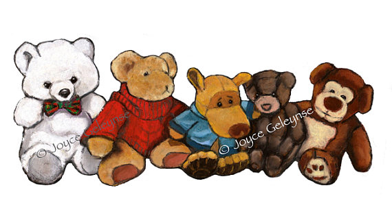 Christmas Stuffed Animals Clipart.