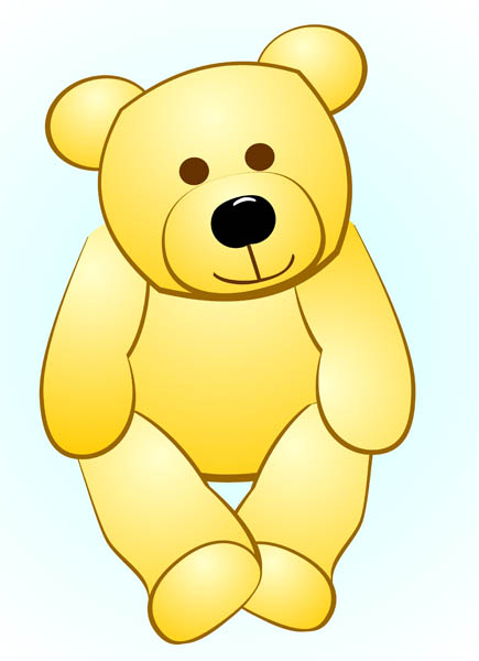Cuddly toys clipart.