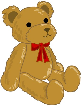 Cuddly toy clipart.