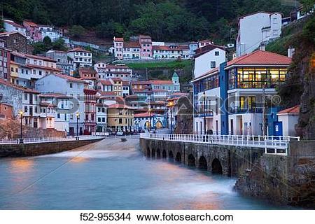 Stock Photo of Cudillero. Cantabrian coast. Asturias. Spain. f52.