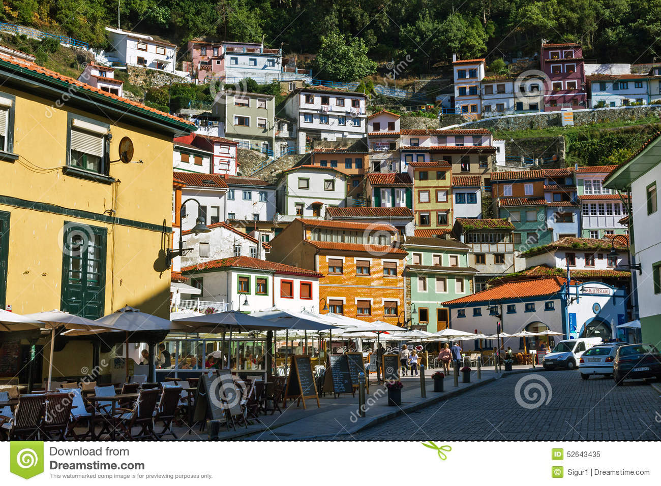 Cudillero Fishing Village Of Asturias Editorial Image.