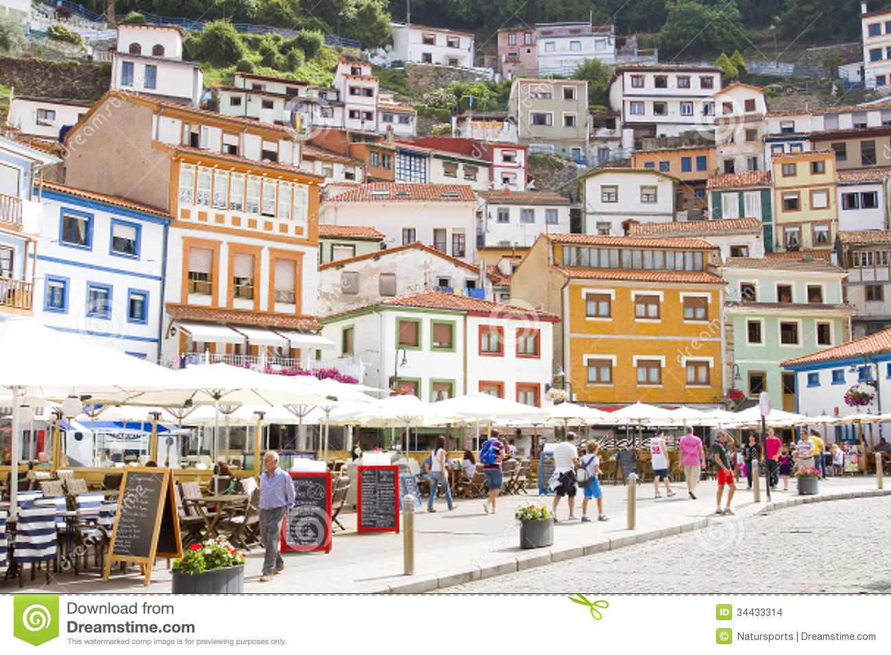 Houses Cudillero Asturias Spain Stock Photos, Images, & Pictures.