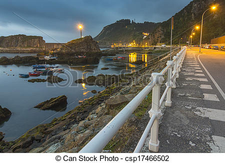 Stock Photography of view after the storm of the promenade of the.