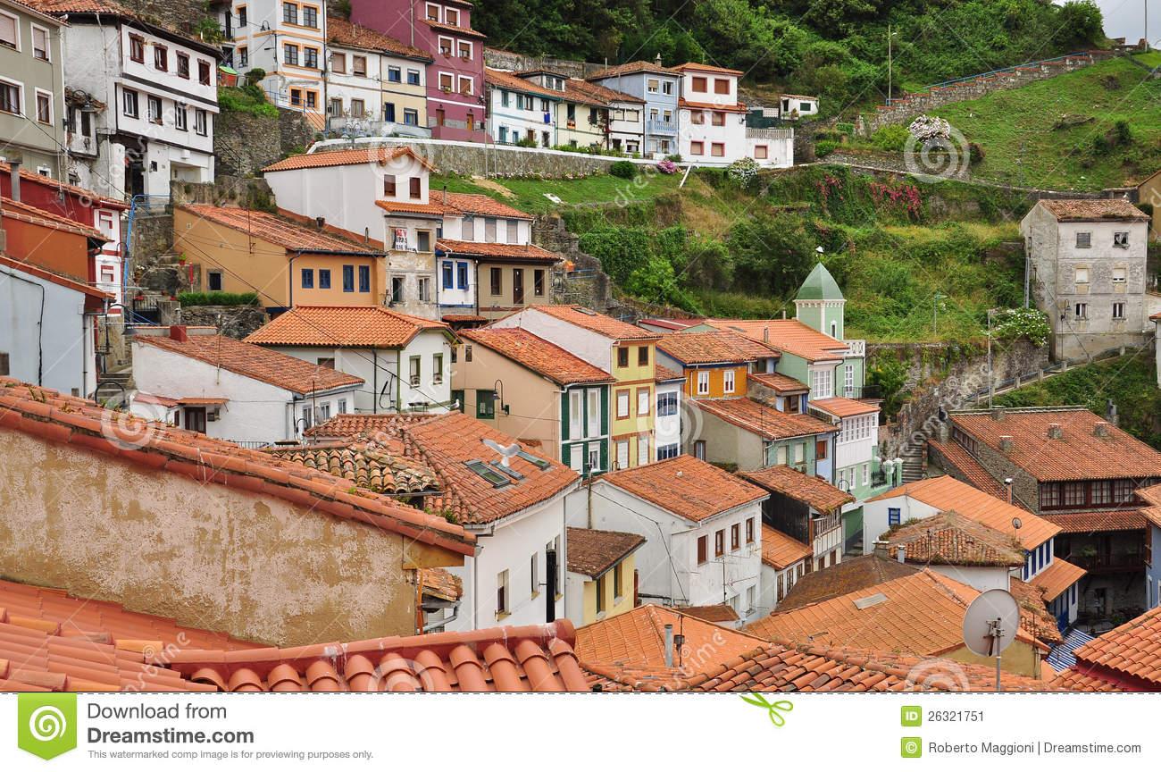 Cudillero, Asturias, Spain. Marina Stock Image.