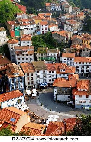 Stock Photo of Cudillero. Asturias, Spain l72.