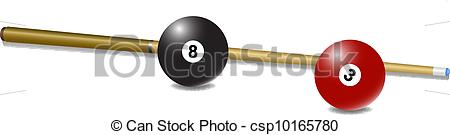 Snooker cue clipart.