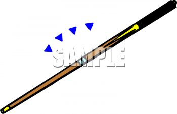 Pool Cue Clipart.
