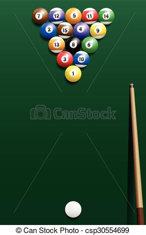 EPS Vectors of Billiard Break Shot Start Off Cue Sports.
