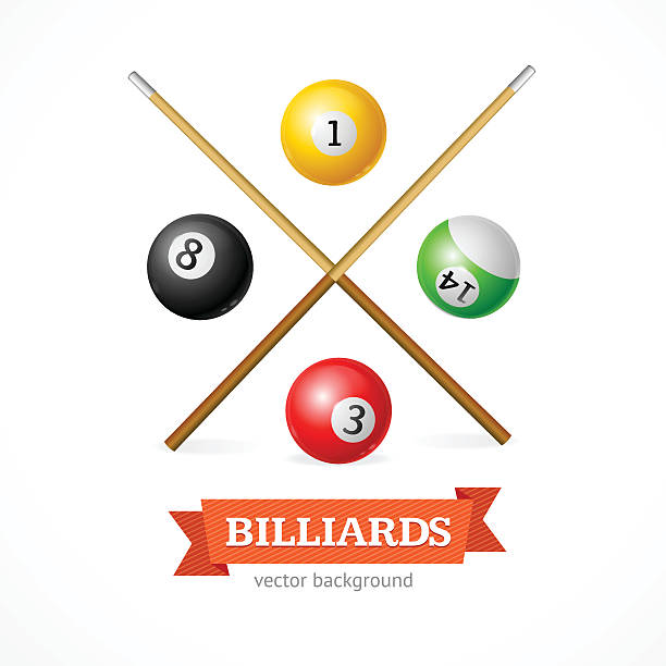 Pool Cue Sport Clip Art, Vector Images & Illustrations.