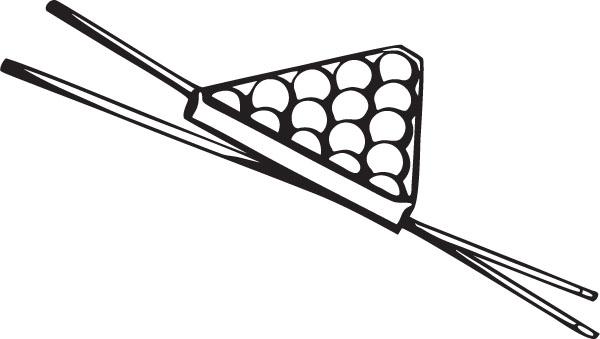 Cue Stick Clip Art.