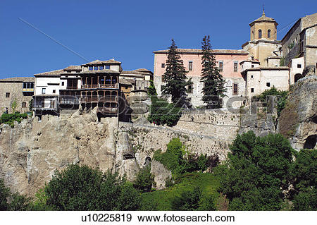 Stock Photograph of Spain, Castilla la mancha, Cuenca, House.